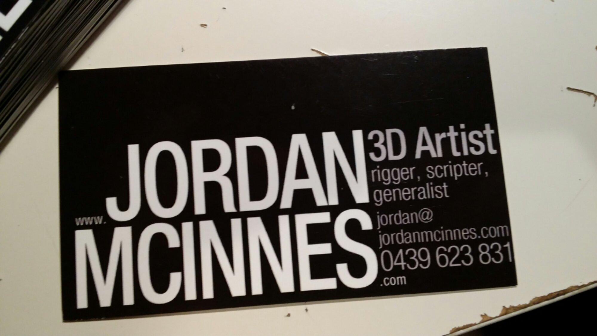 My new business cards! | Jordan McInnes Portfolio Site